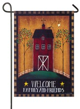 Welcome, Barn Flag, Small
