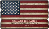 Blessed Is the Nation, Flag, Wall Art