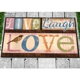 Live Laugh Love Door Mat
