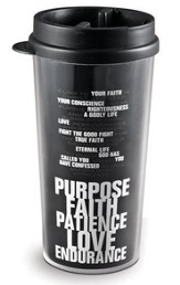 Purpose, Faith, Patience, Love, Endurance Tumbler
