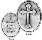 We Walk By Faith Pocket Token
