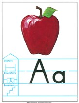 Large Alphabet Flashcards (Grade 1; Manuscript)
