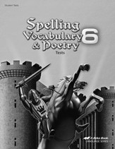 Spelling, Vocabulary, & Poetry 6 Tests