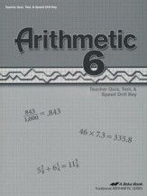 Arithmetic 6 Quizzes, Tests & Speed Drills Key