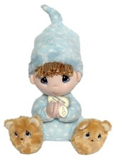 Precious Moments, Prayer Bear Plush, Boy, Spanish