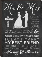 Mr. and Mrs., Mini Chalkboard Art