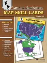 Western Hemisphere Map Skill Cards--Grades 6 to 8