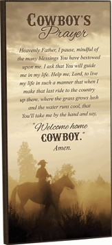 Cowboy's Prayer Framed Art