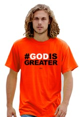 #God Is Greater Shirt, Orange, Small (36-38)