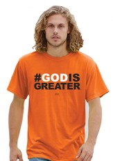 #God Is Greater Shirt, Orange, 4X-Large (58-60)