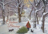 Bringing Home The Tree (2 Peter 1:2, NIV), 20 Count Boxed Christmas Cards