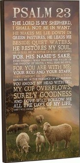 The Lord Is My Shepherd Mounted Print