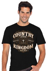 Country Born, Kingdom Bound Shirt, Black, 3X-Large (54-56)