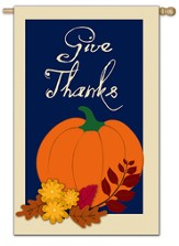 Give Thanks (pumpkin), Large Flag