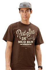 Red Sea Mud Run Shirt, Brown, X-Large (46-48)