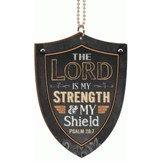 Shield, The Lord is My Strength, Car Charm
