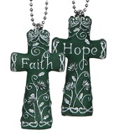 Faith On the Go, Double Sided Cross, Hope and Faith