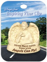 Never Drive Faster Than Your Angels, Visor Clip
