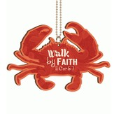 Crab, Walk By Faith, Car Charm