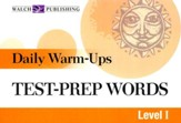 Daily Warm Ups, Test Prep Words, Level 1