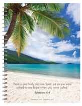 Tropical Beaches, 2015 Spiral Planner, 16 Month