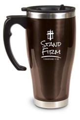 Stand Firm Travel Mug, 1 Corinthians 15:58