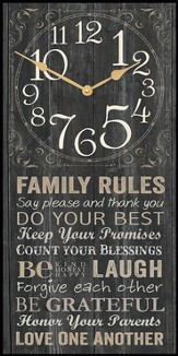Family Rules Clock