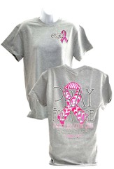 Pray For A Cure Shirt, Gray, Large