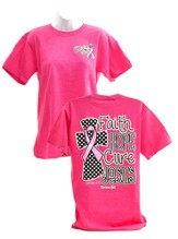 Faith, Hope, Cure, Jesus Shirt, Pink, Large