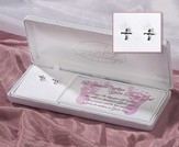 Baptism, Petal Cross Earrings
