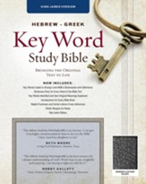 KJV Hebrew-Greek Key Word Study Bible, bonded leather, black-indexed