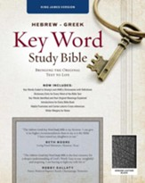 KJV Hebrew-Greek Key Word Study Bible, genuine leather, black-indexed