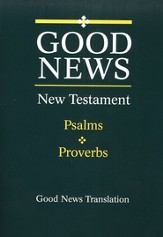 Good News New Testament With Psalms and Proverbs, Giant Print, Flex cover - Imperfectly Imprinted Bibles