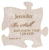 Personalized, Puzzle Magnet, Be Still, White