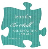 Personalized, Puzzle Magnet, Be Still, Green