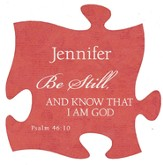 Personalized, Puzzle Magnet, Be Still, Red