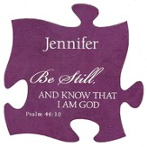 Personalized, Puzzle Magnet, Be Still, Purple