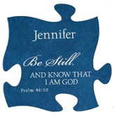 Personalized, Puzzle Magnet, Be Still, Blue