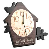 Personalized, Bird House Wall Clock, Trust in the Lord with all your Heart