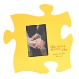 Personalized, Puzzle Photo Frame, Two Become One,Yellow