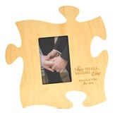Personalized, Puzzle Photo Frame, Two Become One, Maple