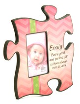 Personalized, Puzzle Photo Frame, Gift From Above, Pink