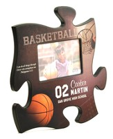 Personalized, Puzzle Photo Frame, Basketball