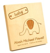 Personalized, Square Plaque, Baby, Small, Maple