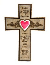 Large Wall Cross With Heart