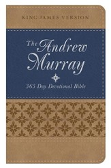 Andrew Murray 365 Day Devotional Bible - tan/blue
