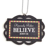 Personalized, Car Charm, Believe