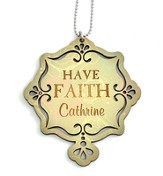 Personalized, Car Charm, Have Faith, Green