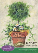 Verdant Greetings Birthday Cards, Box of 12
