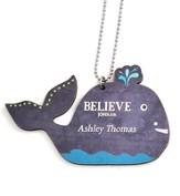 Personalized, Car Charm, Believe, Whale